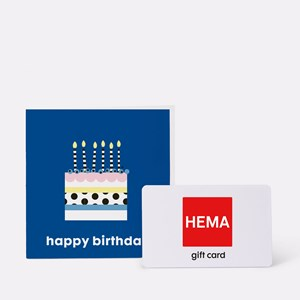 HEMA CDK ENV 2020 Happy Birthday Blauw